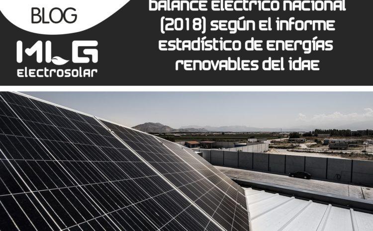 Balance eléctrico nacional (2018) según el informe estadístico de energías renovables